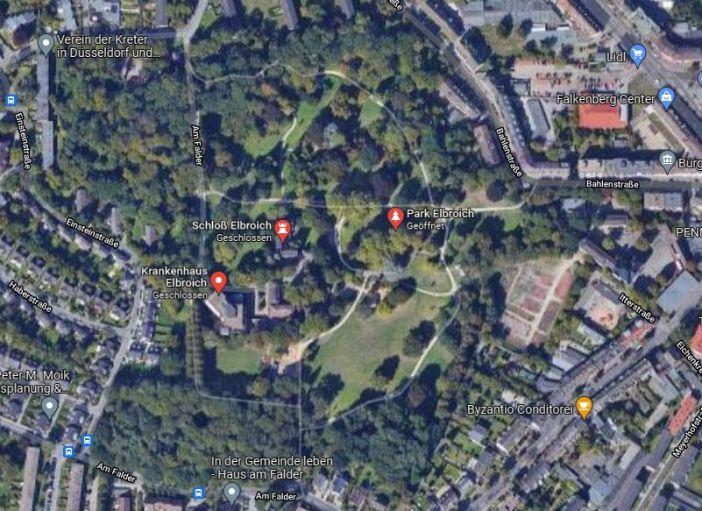 Google-Map: Schloss Elbroich in Hothausen