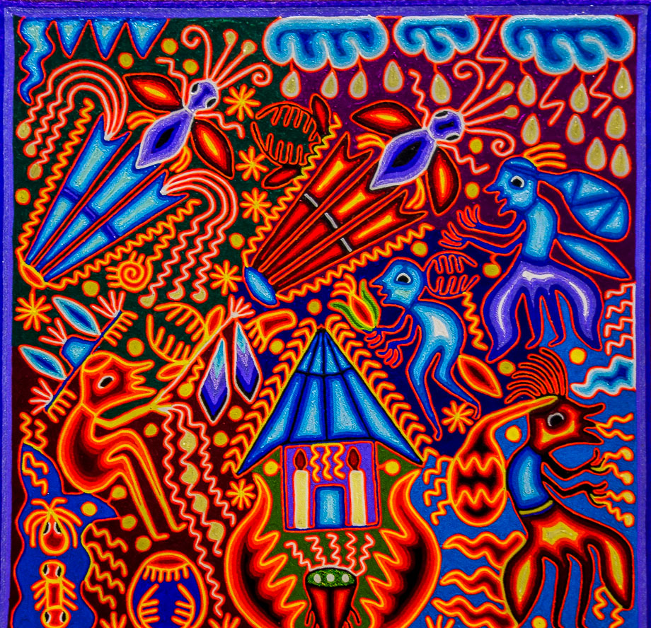 Mexican art huichol art the earlybird for Arte mural en mexico