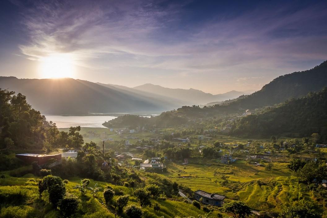 view of Pokhara Lake Phewa