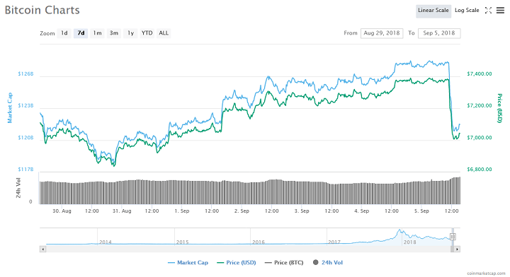 Amidst the announcement from Goldman Sachs, the price of Bitcoin and other cryptocurrencies has experienced a significant decline.