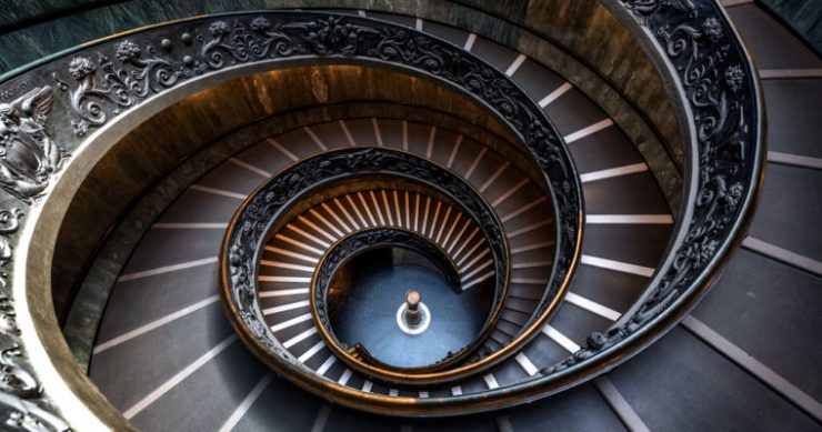 bitcoin price floor stairwell spiral staircase