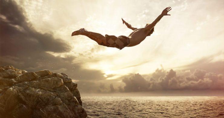 bitcoin price crypto cliff dive