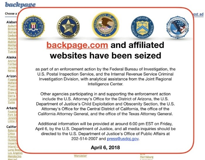 FBI shut down backpage