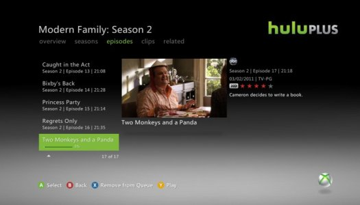 Review: Hulu Plus for Xbox 360