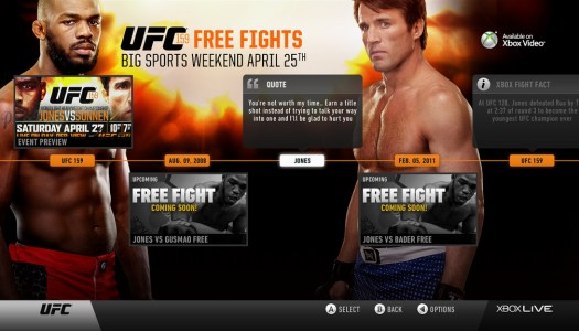UFC, Other Sports Apps Unlocked on Xbox LIVE This Weekend