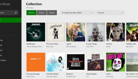 xbox windows 8.1 music app