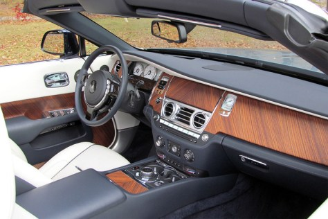 rolls royce dawn review interior front