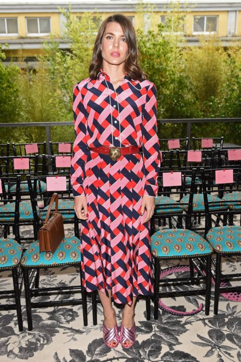 Charlotte Glowed in This Season's Spring '16 Gucci Front Row