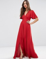 ASOS Pretty Maxi Dress with Ruffle Sleeve