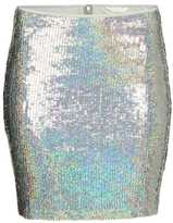 H&M - Sequined Skirt - Silver-colored - Ladies