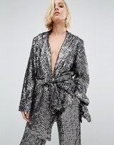 Holidays Kimono Jacket In Sequin Co-Ord