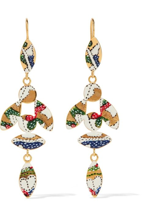 """If 2017 is the year of the earring, count me in with Isabel Marant's delicately printed pair ($205). Planning to wear these with everything."" — HWM"