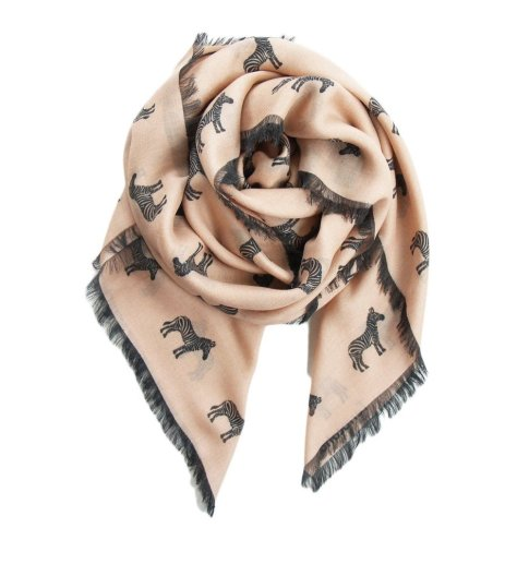 """Everyone always goes for the blanket scarf in Winter and I have plenty, which is why I'm going a different route and looking into a lightweight cashmere blend option from Terracotta New York ($108). I've had my eye on the brand for awhile now and seeing this fun zebra print just makes me want one even more."" — ML"