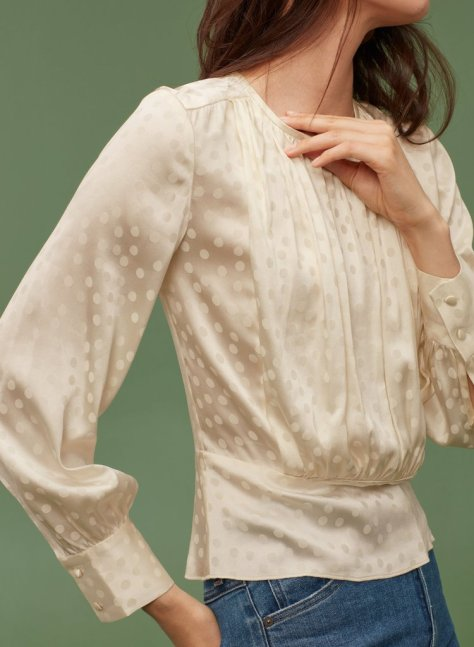 """I fell instantly for the fresh feminine feel of this Aritzia Wilfred Gabriak Blouse ($160). The pretty top that goes from office to party, no problem."" — Hannah Weil McKinley, director, Fashion"