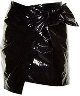 ISABEL MARANT Anders faux patent-leather mini skirt