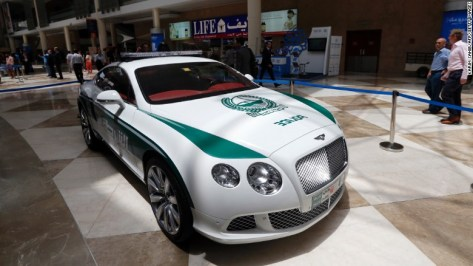 Hot on their tails is the Bentley Continental GT with a top speed of 206 mph -- the fifth-fastest car in the fleet. The luxury vehicle goes from 0 to 60 mph in under 4 seconds.