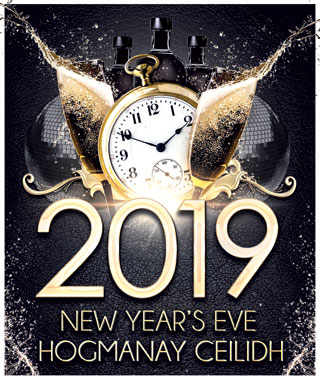 hogmanay new year poster