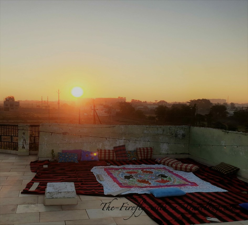 sunrise on the rooftop