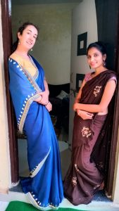 Sari session with Milee