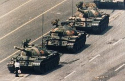Tank man the flares