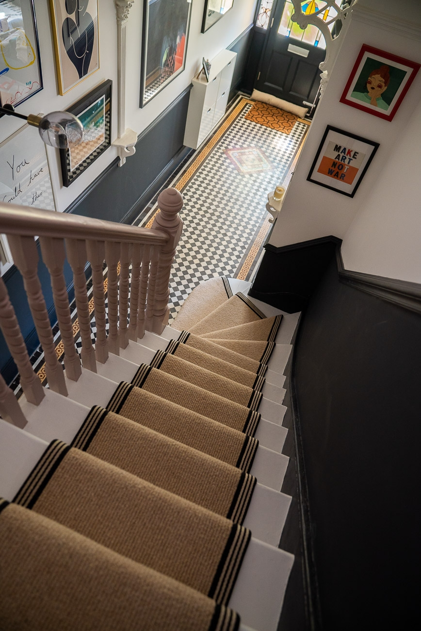 How To Achieve Your Perfect Stair Runner The Frugality | Designer Carpet For Stairs | Stair Railing | Farmhouse | Classical Design | Style New York | Rectangular Cord Treads