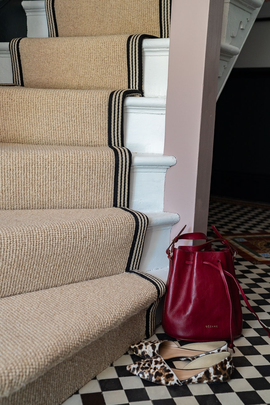 How To Achieve Your Perfect Stair Runner The Frugality | Grey Herringbone Carpet Stairs | Antelope | Victorian | Middle Stair | Roger Oates | Blue