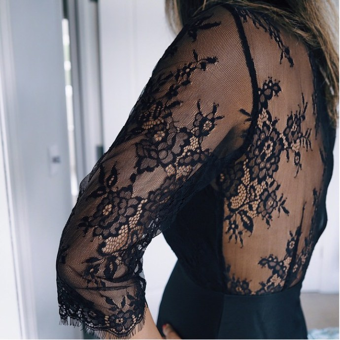 The FT Times in lace back dress