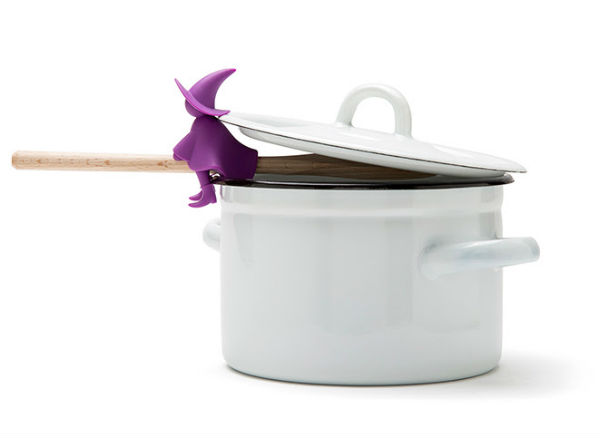 This little purple witch will prevent your cauldron from boiling over
