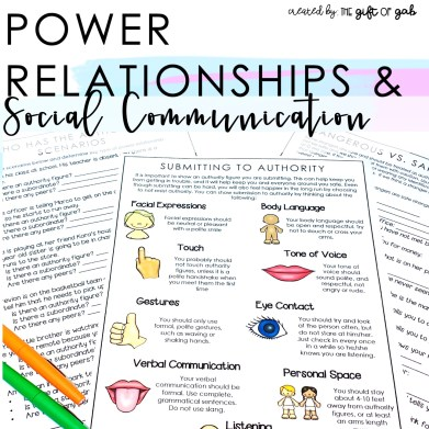 Power Relationships, authority figures, and peer relationships activities and teaching guide