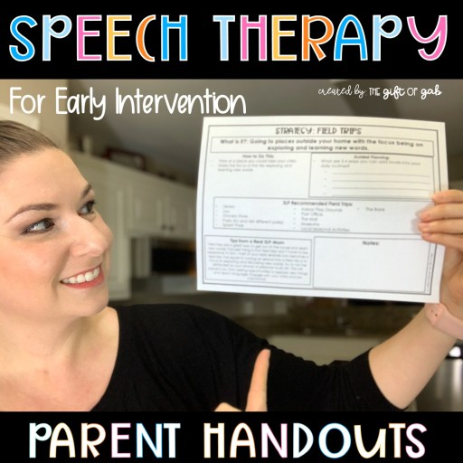 Speech Therapy Early Intervention Parent Handouts