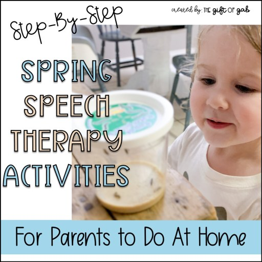 Toddler spring speech therapy at home activitie