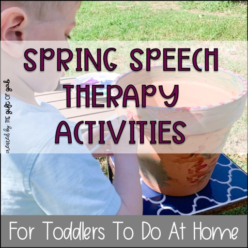 Spring preschool speech therapy at home activities