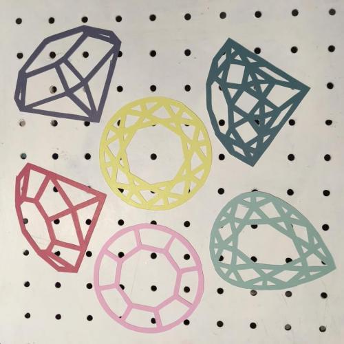 Mollie Makes paper cut gems