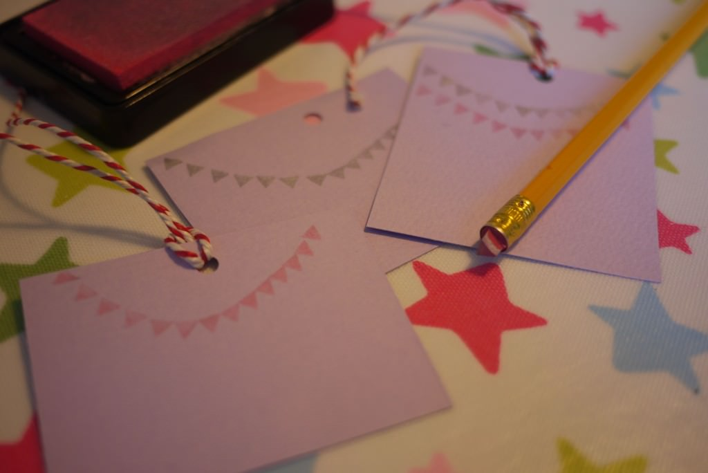 easy DIY bunting stamp