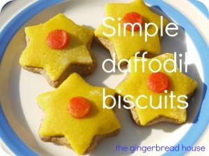 daffodil biscuits