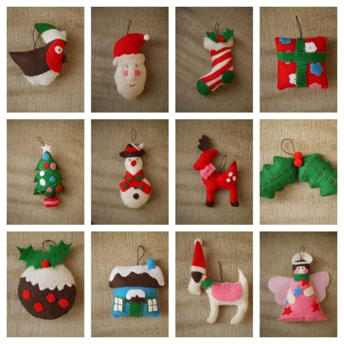 felt christmas decorations - How To Make Your Own Christmas Decorations