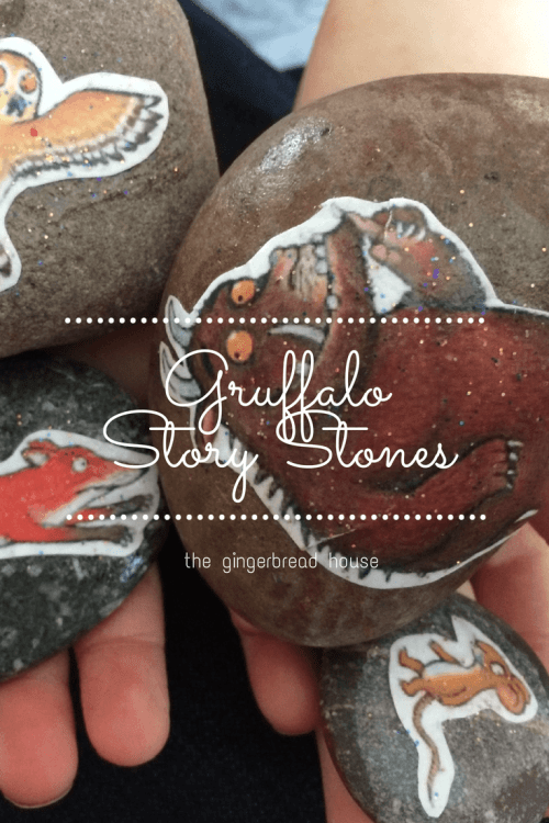 gruffalo story stones - the gingerbread house
