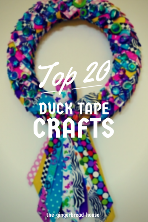 Top 20 Duck Tape crafts - the gingerbread house