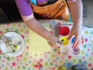 painting with flowers