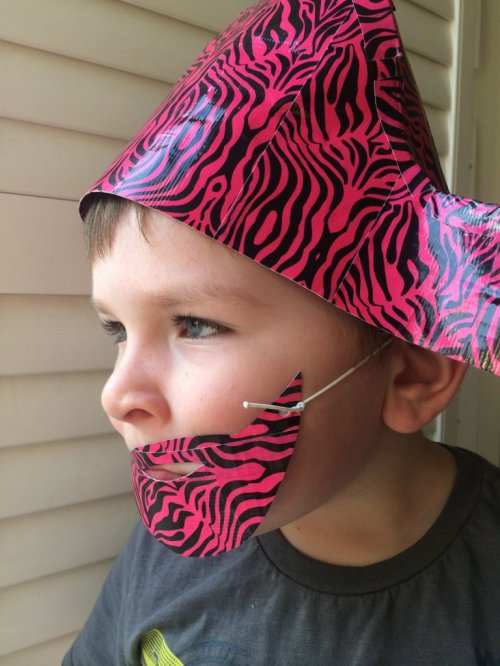 duck tape pirate hat