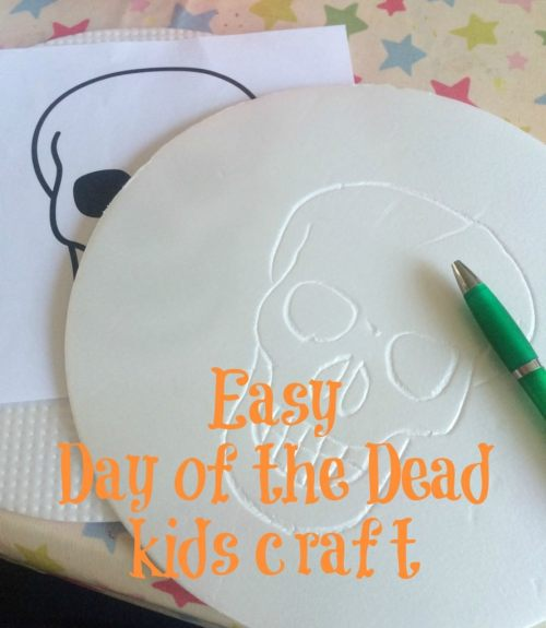 day of the dead kids craft - the gingerbread house