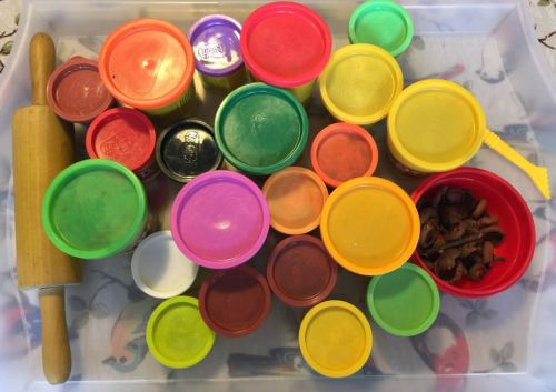 tubs of play dough