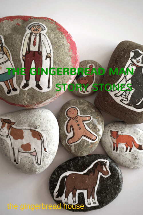 gingerbread story stones - the gingerbread house