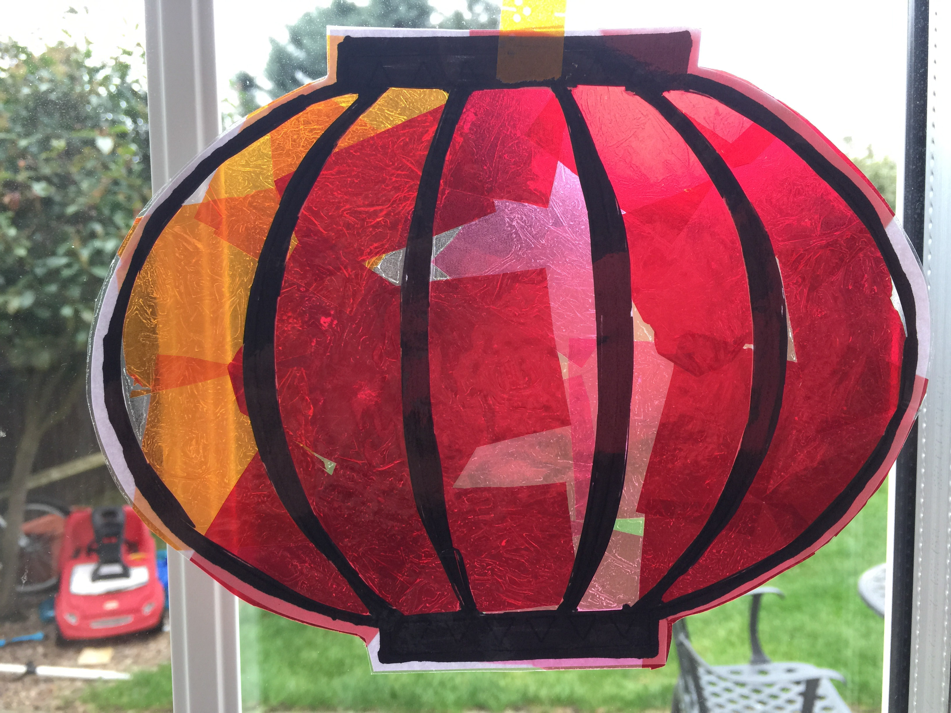 Chinese lantern sun catcher - the-gingerbread-house.co.uk