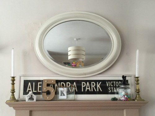 my decorated mantlepiece