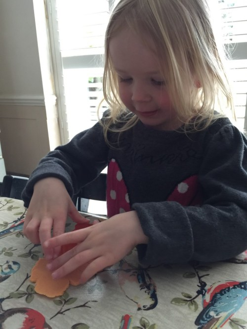 playing with miffy play dough