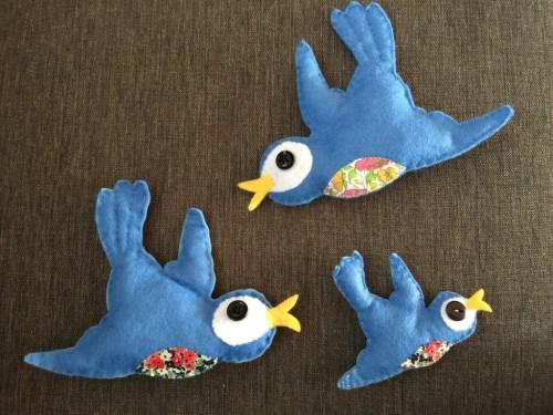 Mollie Makes felt bird pattern