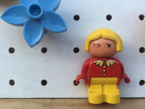 upcycled lego duplo clock
