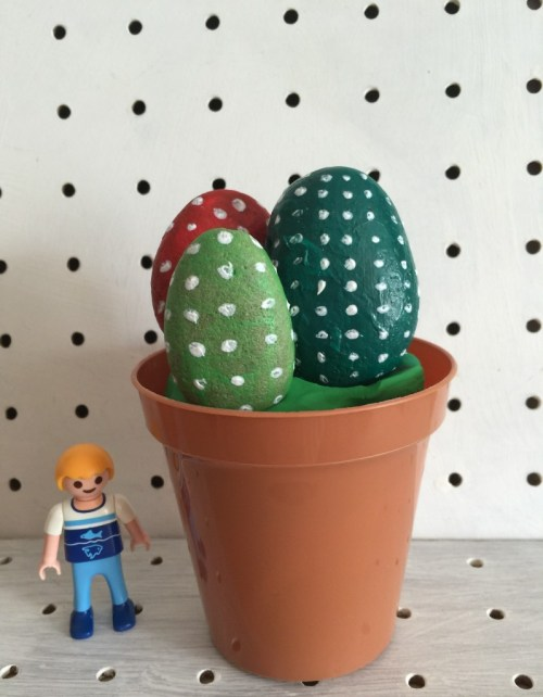 pebble cactus plants - the gingerbread house