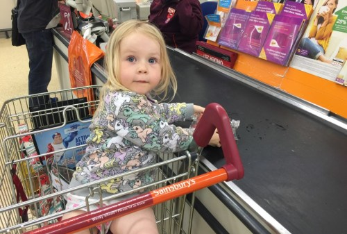 shopping with children